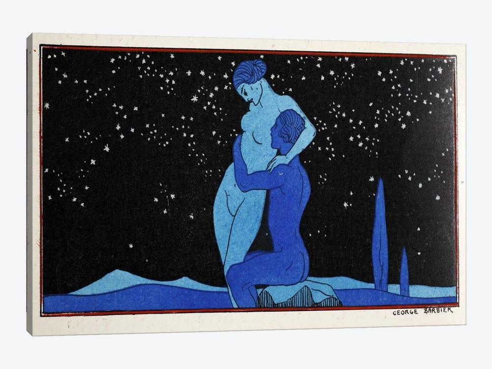 Evening (pochoir print) by George Barbier 1-piece Canvas Print