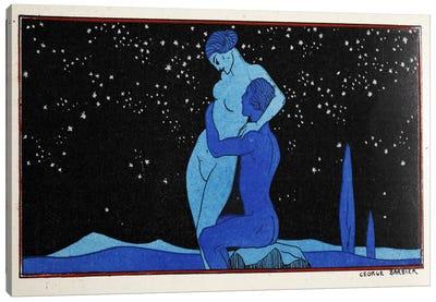Evening (pochoir print) Canvas Art Print