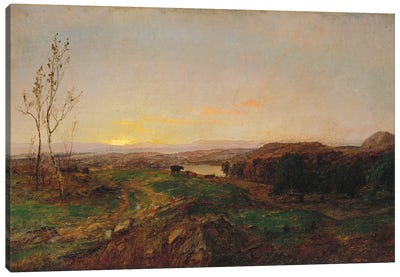 Early Evening Landscape  Canvas Art Print