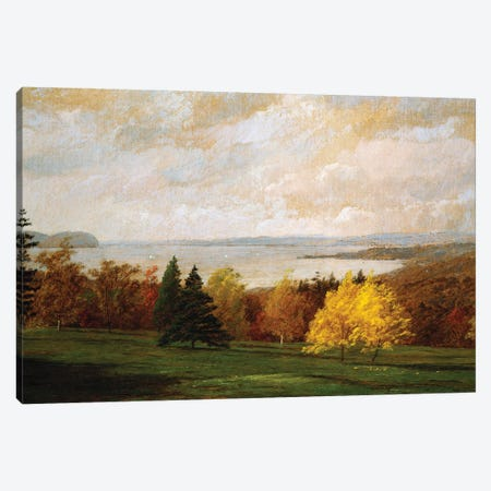 View of the Hudson near Hastings, 1895  Canvas Print #BMN5501} by Jasper Francis Cropsey Canvas Artwork