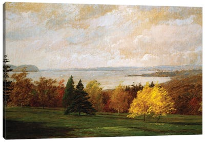 View of the Hudson near Hastings, 1895  Canvas Art Print