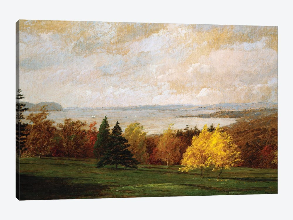 View of the Hudson near Hastings, 1895  by Jasper Francis Cropsey 1-piece Canvas Wall Art