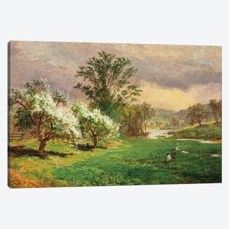 Apple Blossom Time, 1899  Canvas Print #BMN5503} by Jasper Francis Cropsey Canvas Artwork