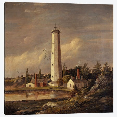 Shot Tower, 1845  Canvas Print #BMN5504} by Jasper Francis Cropsey Art Print