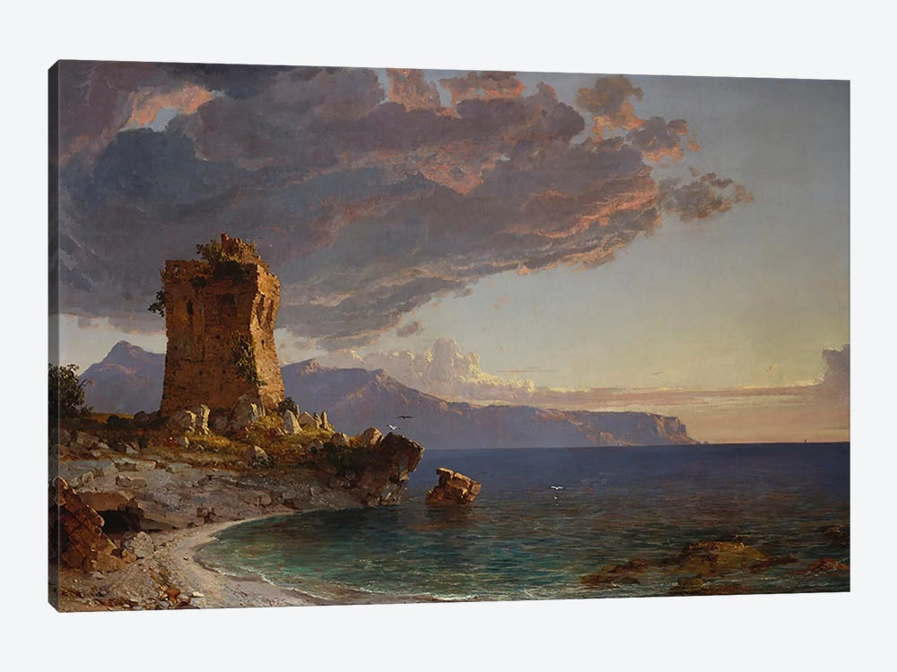 The Isle of Capri, 1893  by Jasper Francis Cropsey 1-piece Canvas Wall Art