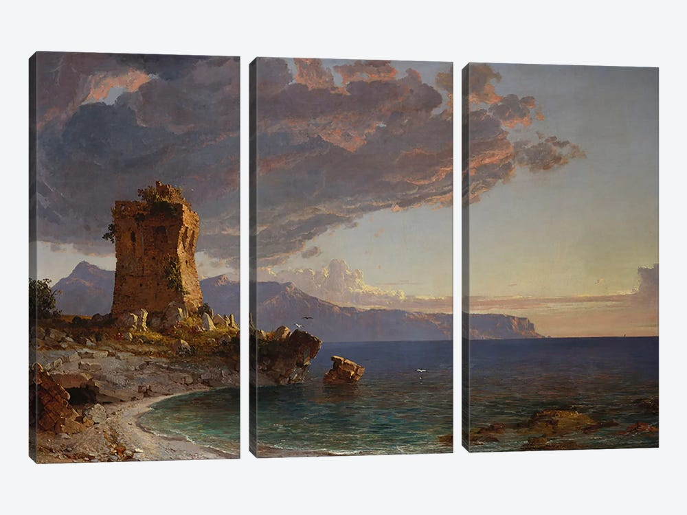 The Isle of Capri, 1893 by Jasper Francis Cropsey 3-piece Canvas Art
