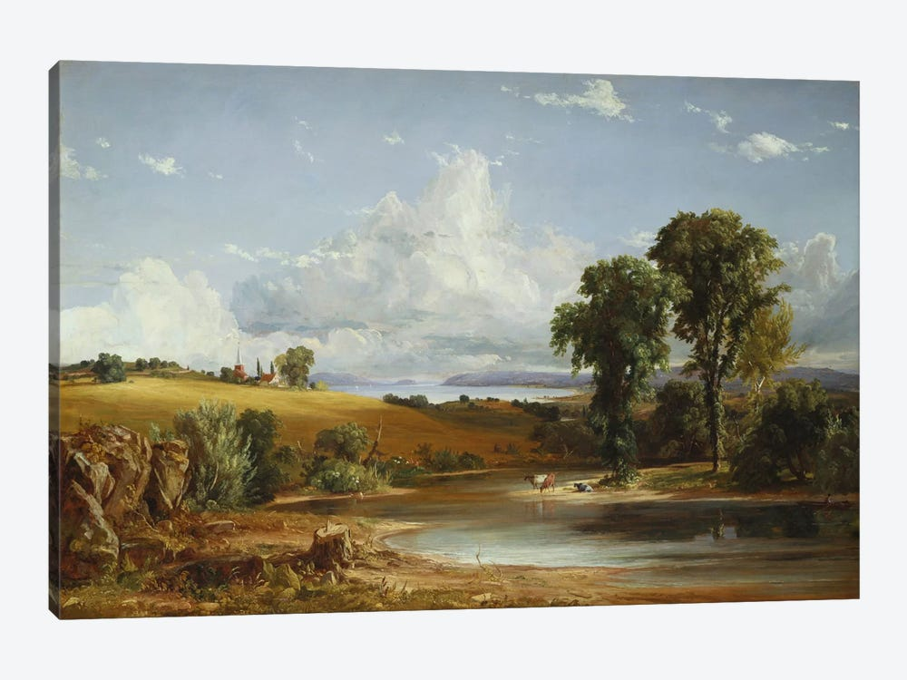 Summer Afternoon on the Hudson, 1852  by Jasper Francis Cropsey 1-piece Canvas Print