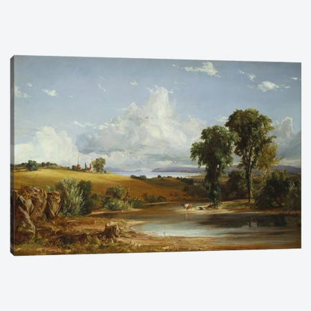 Summer Afternoon on the Hudson, 1852  Canvas Print #BMN5506} by Jasper Francis Cropsey Art Print