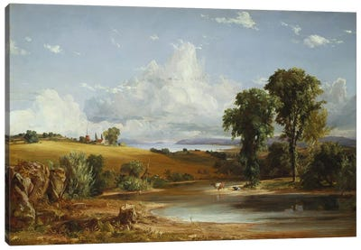 Summer Afternoon on the Hudson, 1852 Canvas Art Print