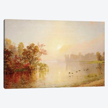 Hazy Afternoon - Autumn, 1873  Canvas Print #BMN5507} by Jasper Francis Cropsey Art Print