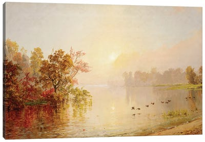 Hazy Afternoon - Autumn, 1873  Canvas Art Print