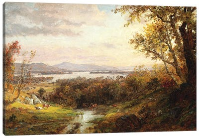 View of the Hudson, 1883  Canvas Art Print