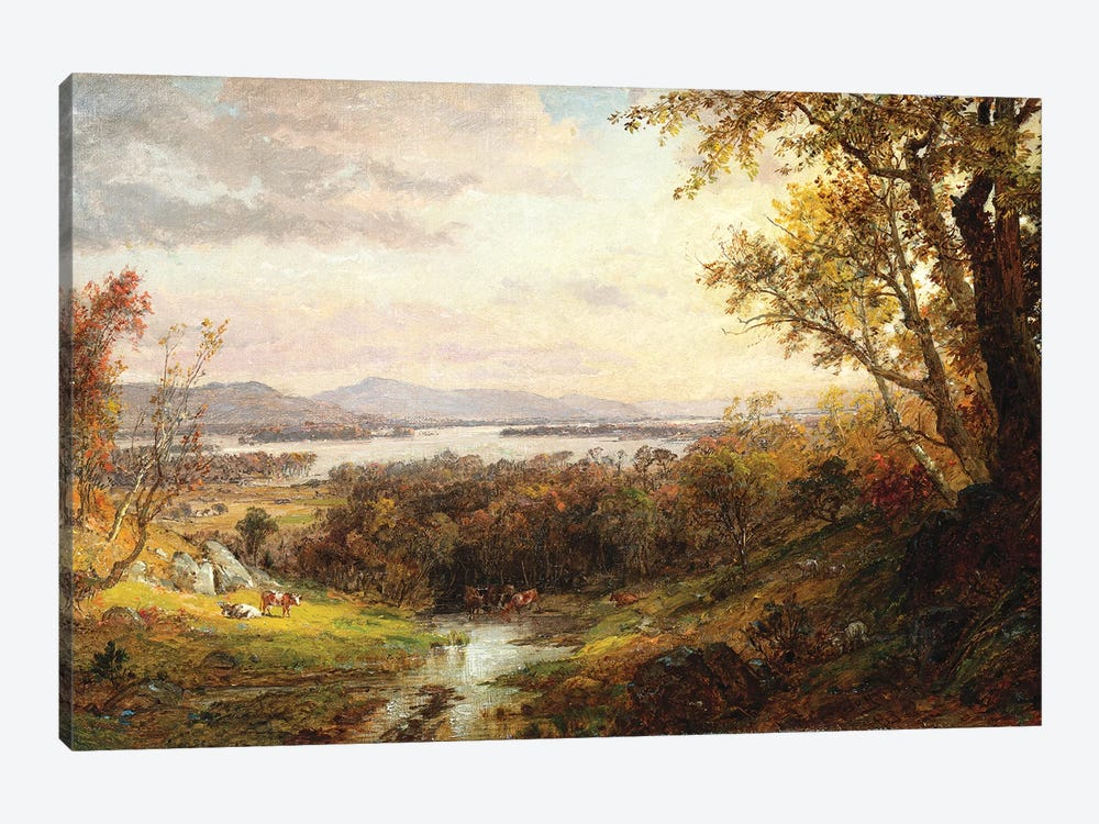 View of the Hudson, 1883  by Jasper Francis Cropsey 1-piece Canvas Print