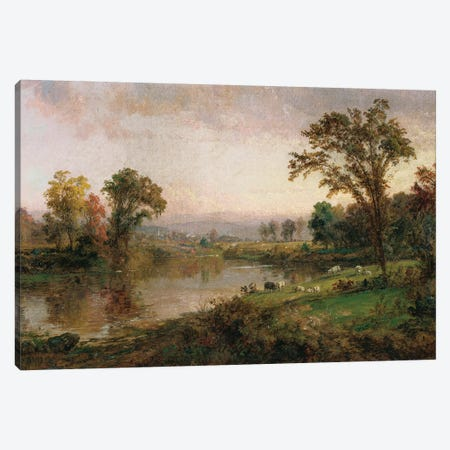 Riverscape - Early Autumn, 1888  Canvas Print #BMN5510} by Jasper Francis Cropsey Canvas Art Print