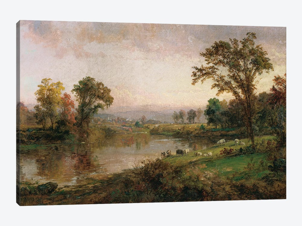 Riverscape - Early Autumn, 1888  by Jasper Francis Cropsey 1-piece Canvas Artwork