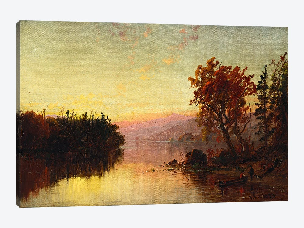 Greenwood Lake at Twilight, 1873 by Jasper Francis Cropsey 1-piece Art Print