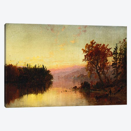Greenwood Lake at Twilight, 1873  Canvas Print #BMN5511} by Jasper Francis Cropsey Canvas Art Print