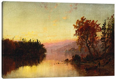 Greenwood Lake at Twilight, 1873  Canvas Art Print