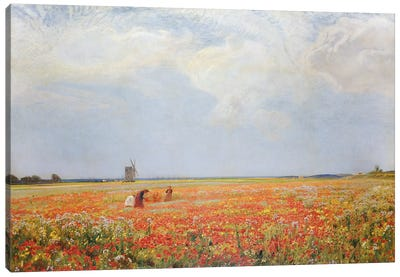 The Flower Pickers  Canvas Art Print