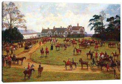 The Cheshire Hunt - the Meet at Calveley Hall  Canvas Art Print