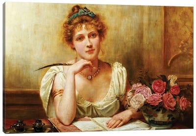 The Letter  Canvas Art Print