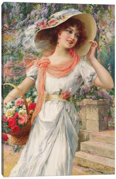 The Flower Girl  Canvas Art Print