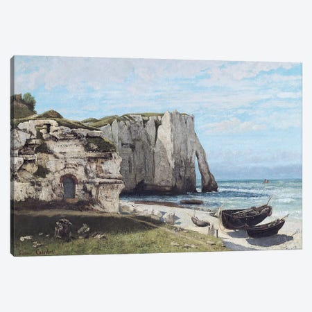 The Cliffs at Etretat after the storm, 1870  Canvas Print #BMN551} by Gustave Courbet Canvas Art