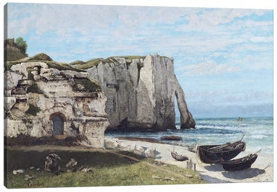 The Cliffs at Etretat after the storm, 1870  Canvas Art Print