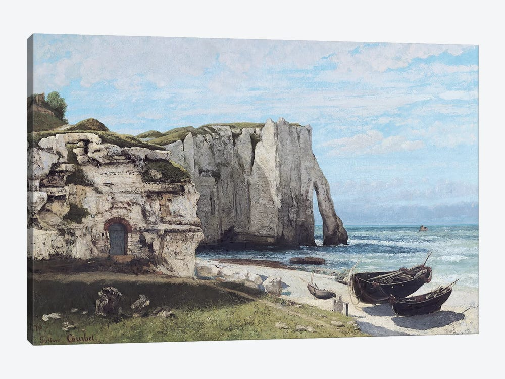 The Cliffs at Etretat after the storm, 1870  by Gustave Courbet 1-piece Canvas Art Print