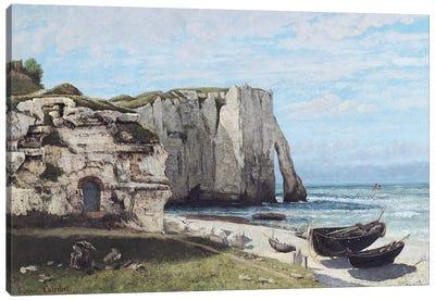 The Cliffs at Etretat after the storm, 1870  Canvas Art Print