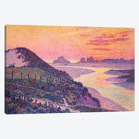 Sunset at Ambleteuse, Pas-de-Calais, 1899  Canvas Print #BMN5520} by Theo van Rysselberghe Canvas Art