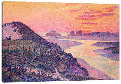 Sunset at Ambleteuse, Pas-de-Calais, 1899  Canvas Art Print