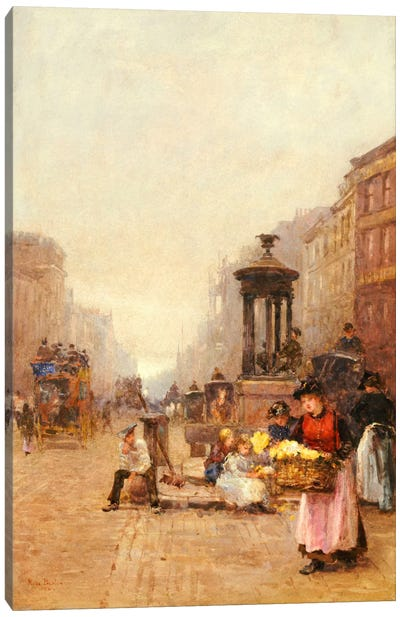 Flower Girls in the Strand, 1892  Canvas Art Print
