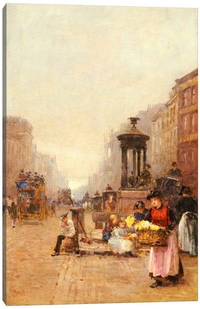Flower Girls in the Strand, 1892  Canvas Print #BMN5522