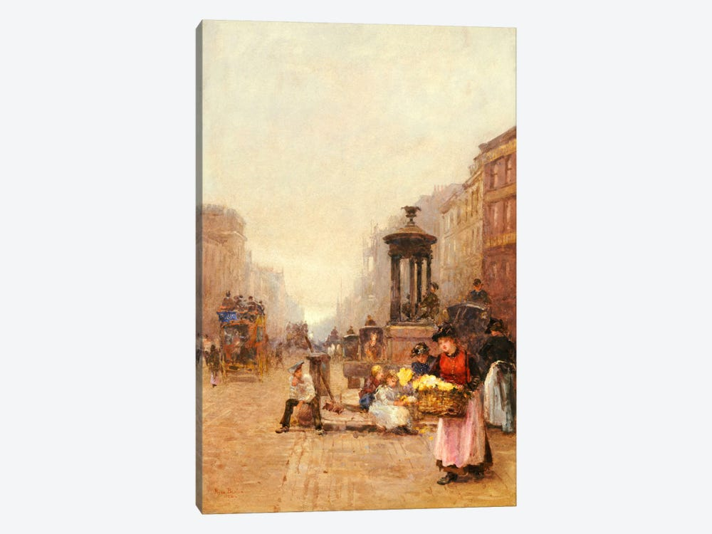 Flower Girls in the Strand, 1892 by Rose Maynard Barton 1-piece Art Print