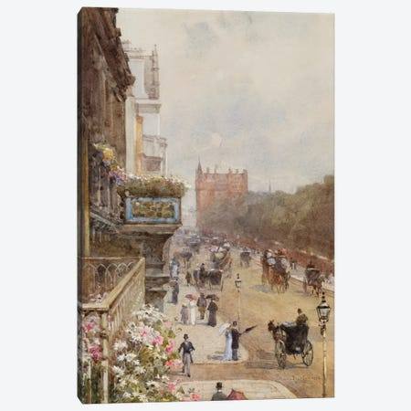 Piccadilly, 1894  Canvas Print #BMN5523} by Rose Maynard Barton Canvas Artwork