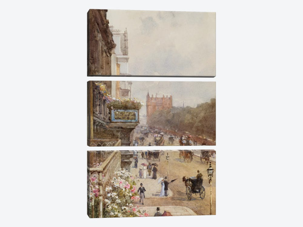 Piccadilly, 1894 by Rose Maynard Barton 3-piece Canvas Wall Art
