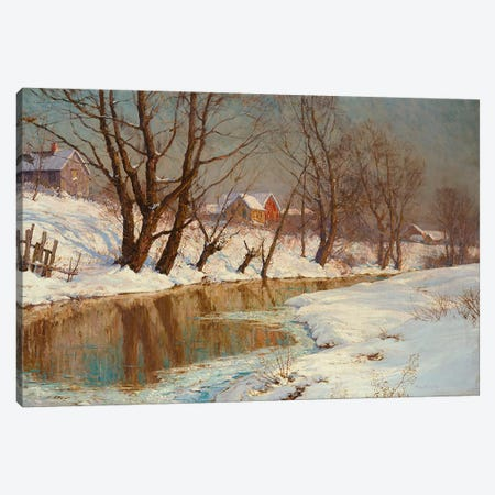 Winter Morning  Canvas Print #BMN5524} by Walter Launt Palmer Art Print