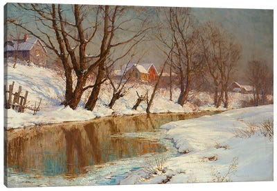 Winter Morning Canvas Art Print