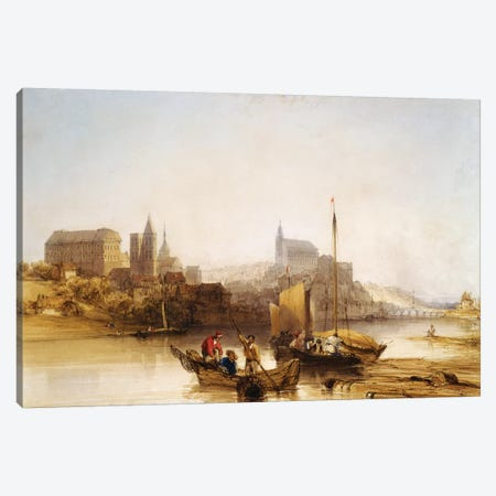 Blois on the Loire, 1840  Canvas Print #BMN5526} by William Callow Canvas Print