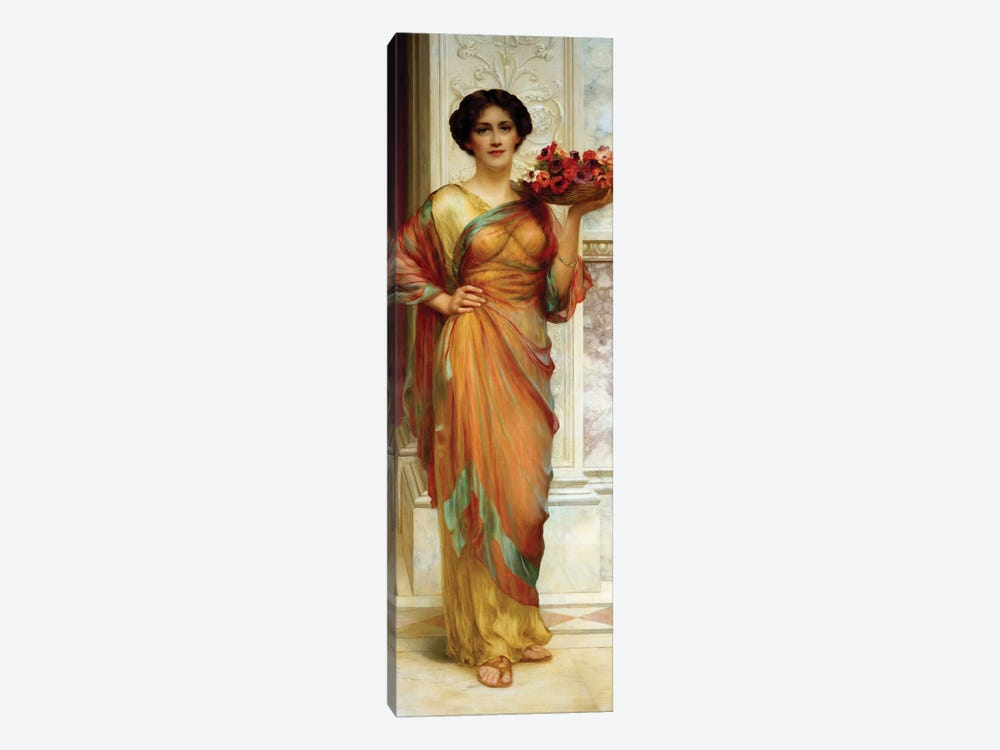 The Basket of Anemones, 1913  by William Clark Wontner 1-piece Canvas Art