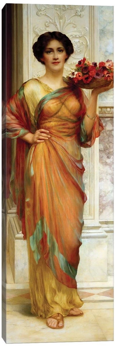 The Basket of Anemones, 1913  Canvas Art Print