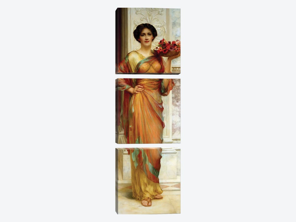 The Basket of Anemones, 1913  by William Clark Wontner 3-piece Canvas Artwork