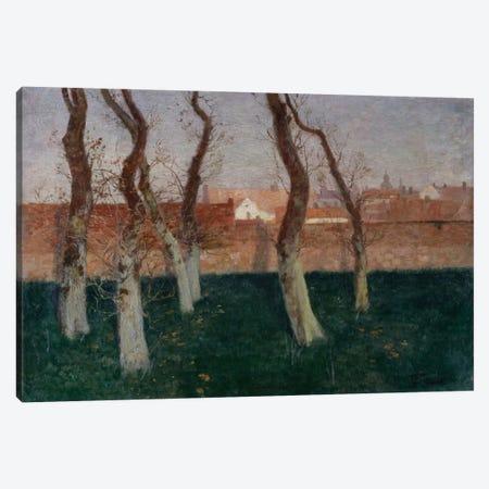 The Walled Garden, 1893  Canvas Print #BMN5529} by Fritz Thaulow Canvas Art