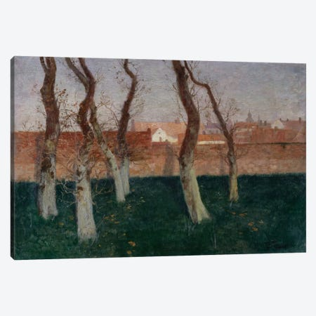 The Walled Garden, 1893  Canvas Print #BMN5529} by Fritz Thaulow Canvas Art