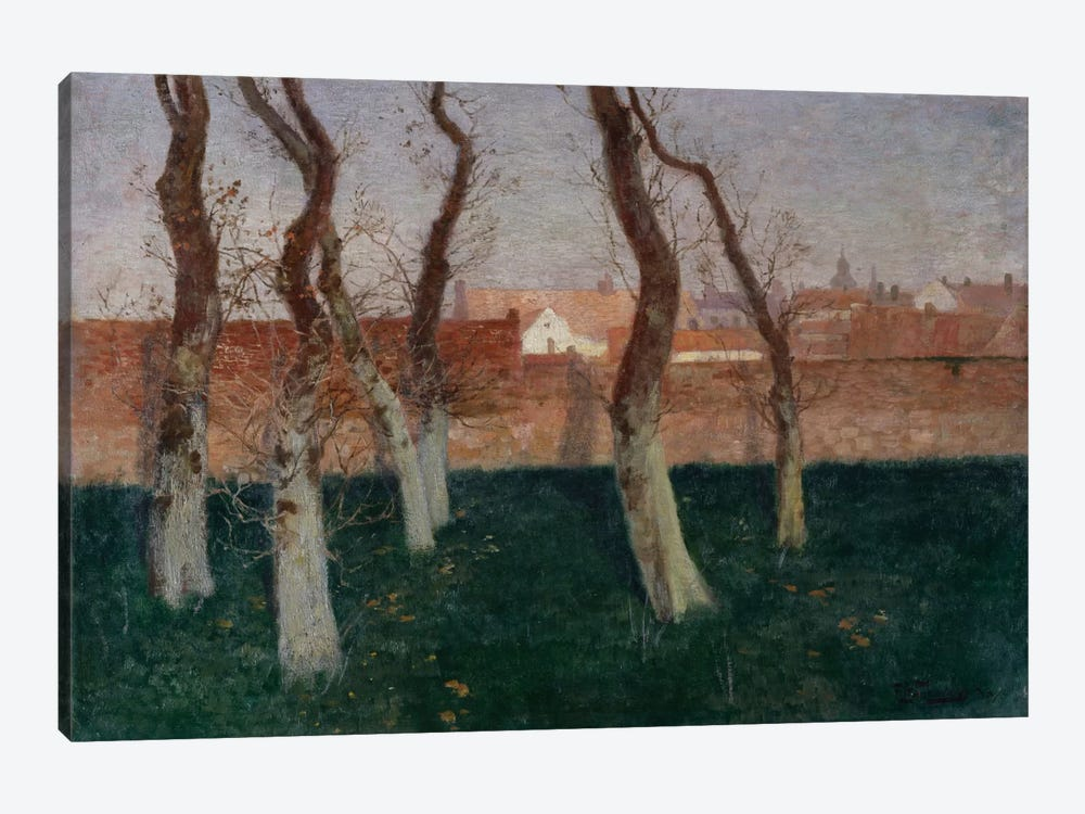 The Walled Garden, 1893 by Fritz Thaulow 1-piece Canvas Art