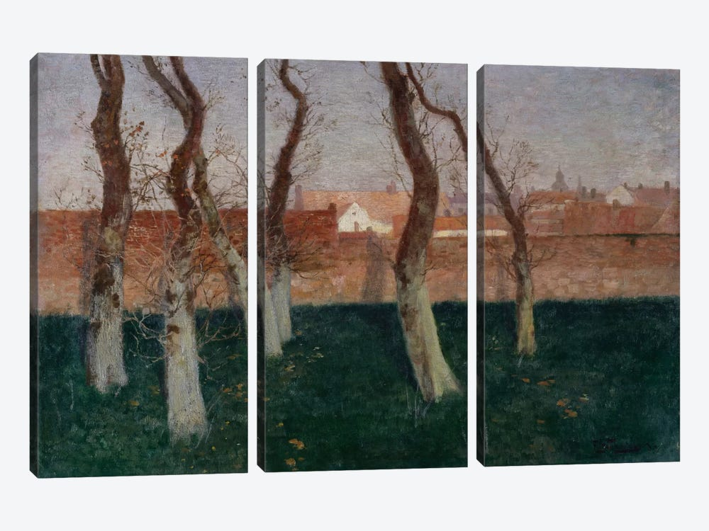 The Walled Garden, 1893 by Fritz Thaulow 3-piece Canvas Wall Art