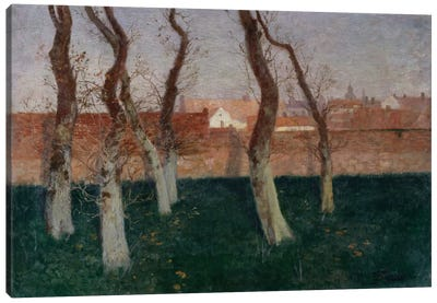 The Walled Garden, 1893  Canvas Art Print