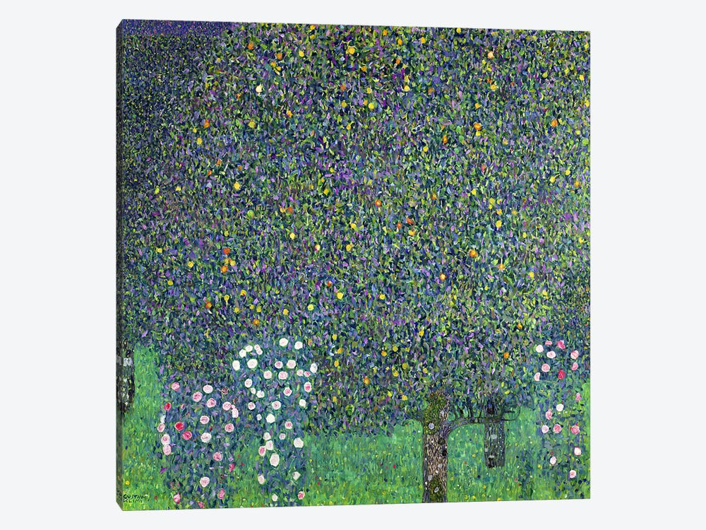 Roses under the Trees, c.1905  by Gustav Klimt 1-piece Canvas Wall Art