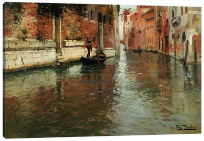 A Venetian Backwater  Canvas Art Print